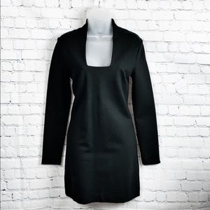 Kate Spade Long Sleeve Black Bodycon Dress S mini